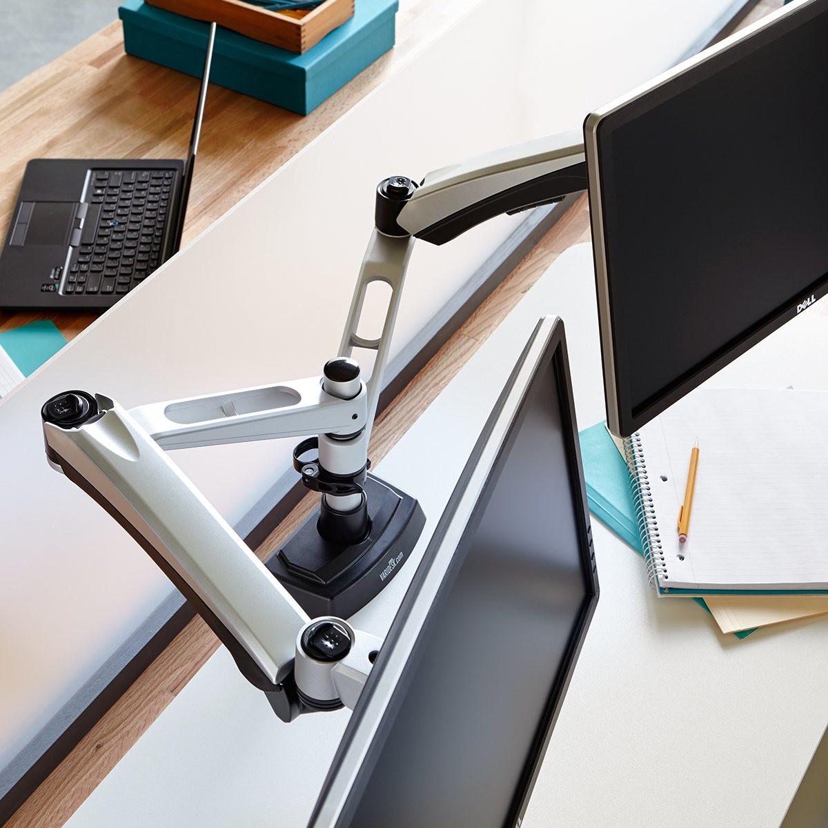 Dual Monitor Arm Adjustable Standing Desks Varidesk 174