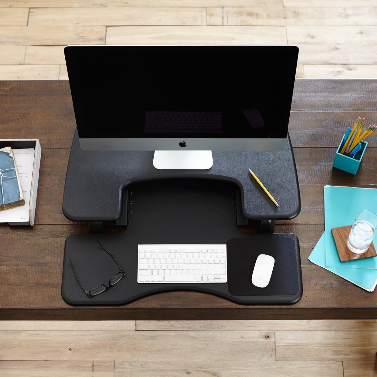 Pro Plus 30 Black Adjustable Standing Desks Varidesk 174