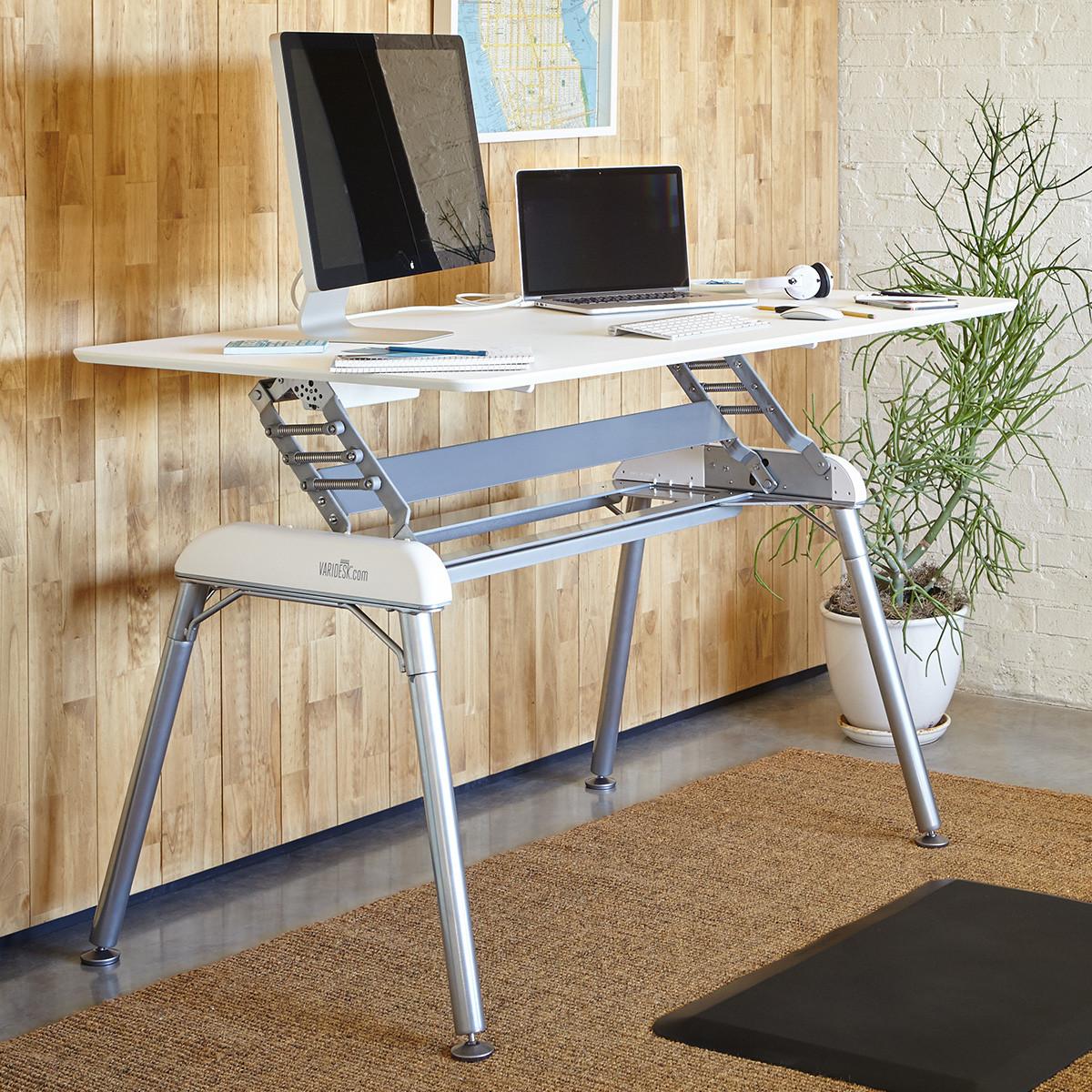Pro Desk 60 White Adjustable Standing Desks Varidesk 174